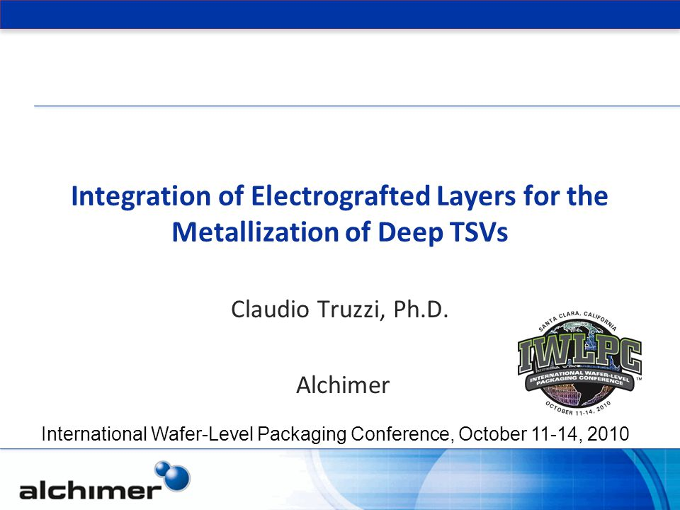 Claudio Truzzi, Ph.D. Alchimer
