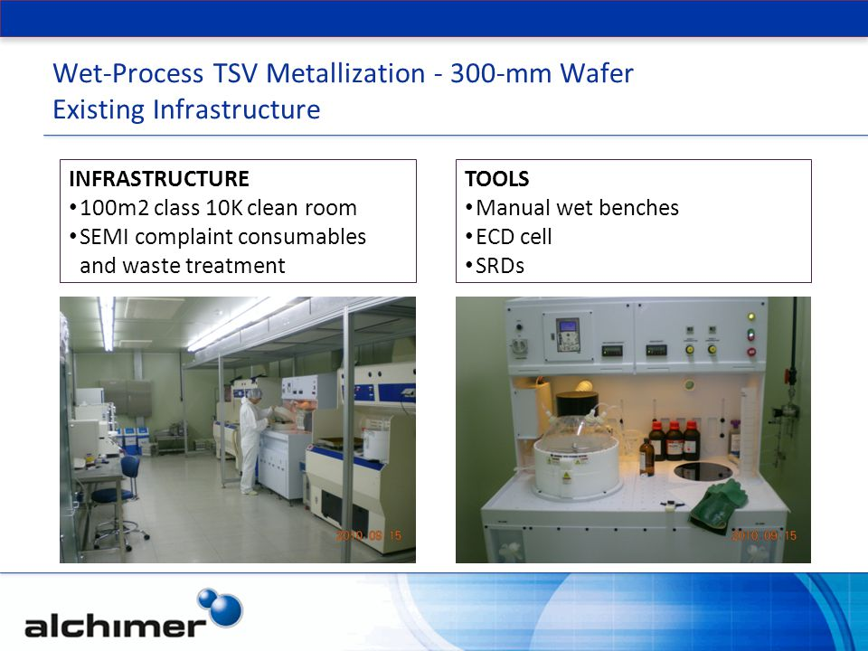 Wet-Process TSV Metallization - 300-mm Wafer Existing Infrastructure
