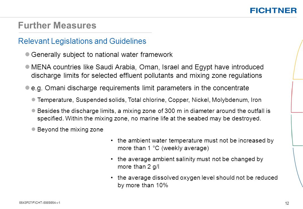 Further Measures Relevant Legislations and Guidelines