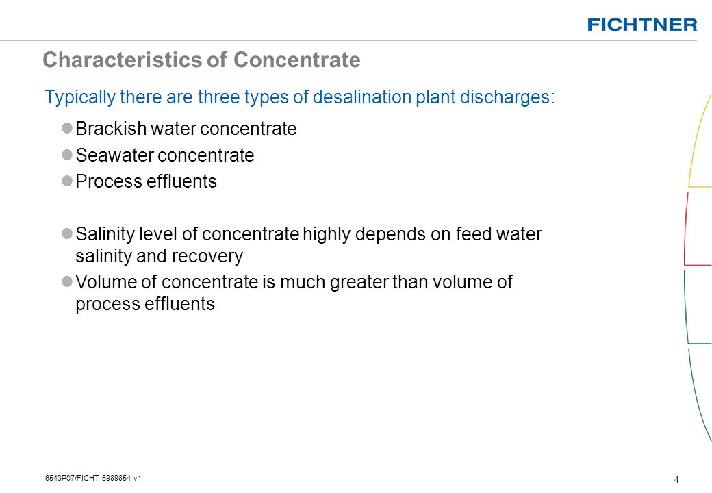 Characteristics of Concentrate