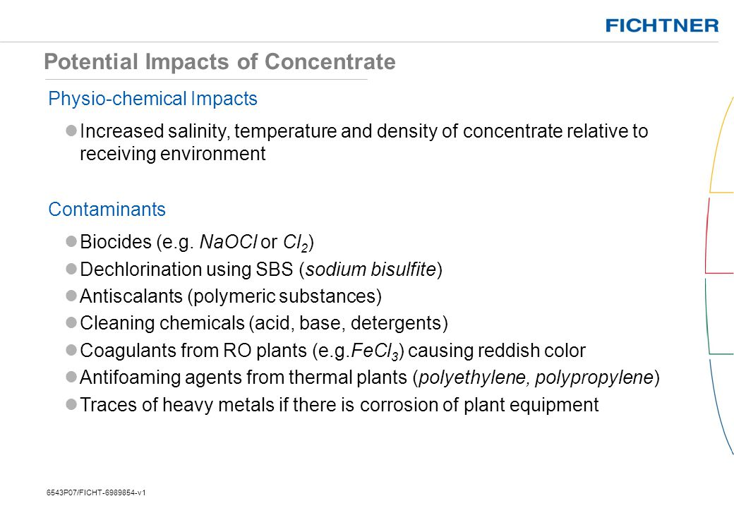 Potential Impacts of Concentrate