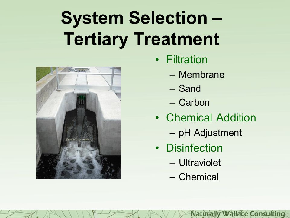 System Selection – Tertiary Treatment