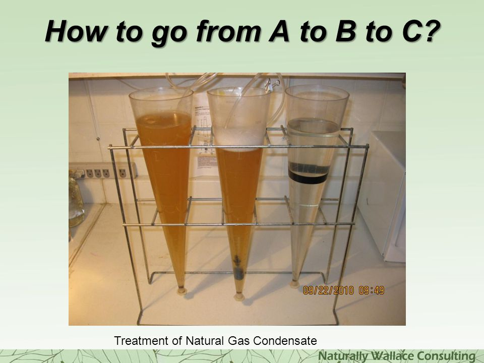 How to go from A to B to C Treatment of Natural Gas Condensate