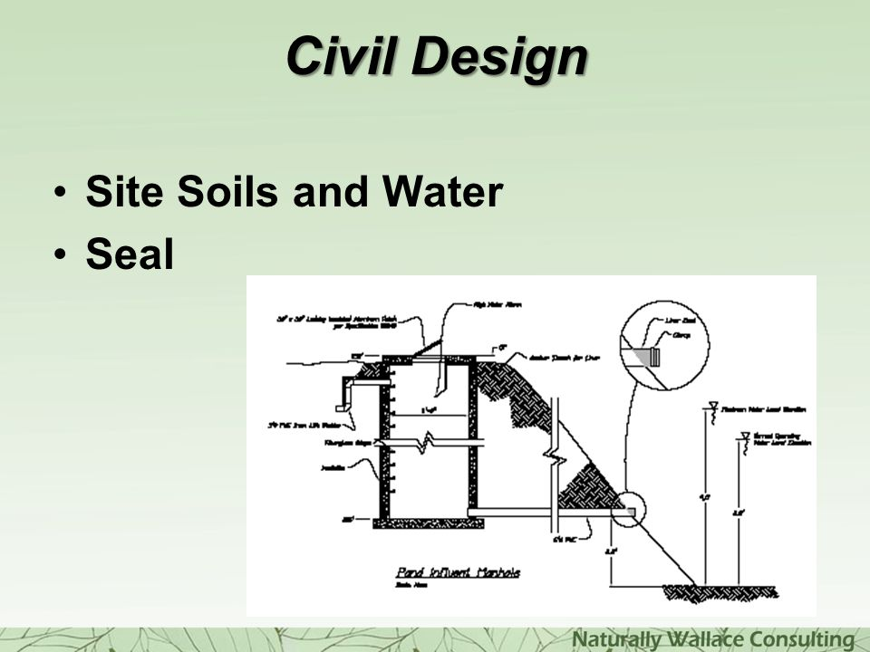Civil Design Site Soils and Water Seal