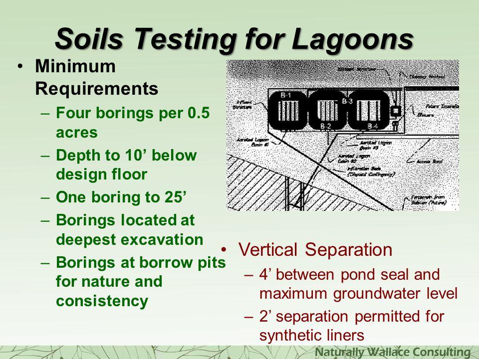 Soils Testing for Lagoons