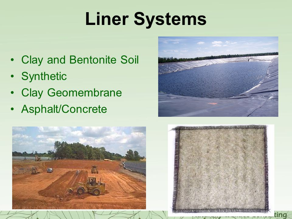 Liner Systems Clay and Bentonite Soil Synthetic Clay Geomembrane