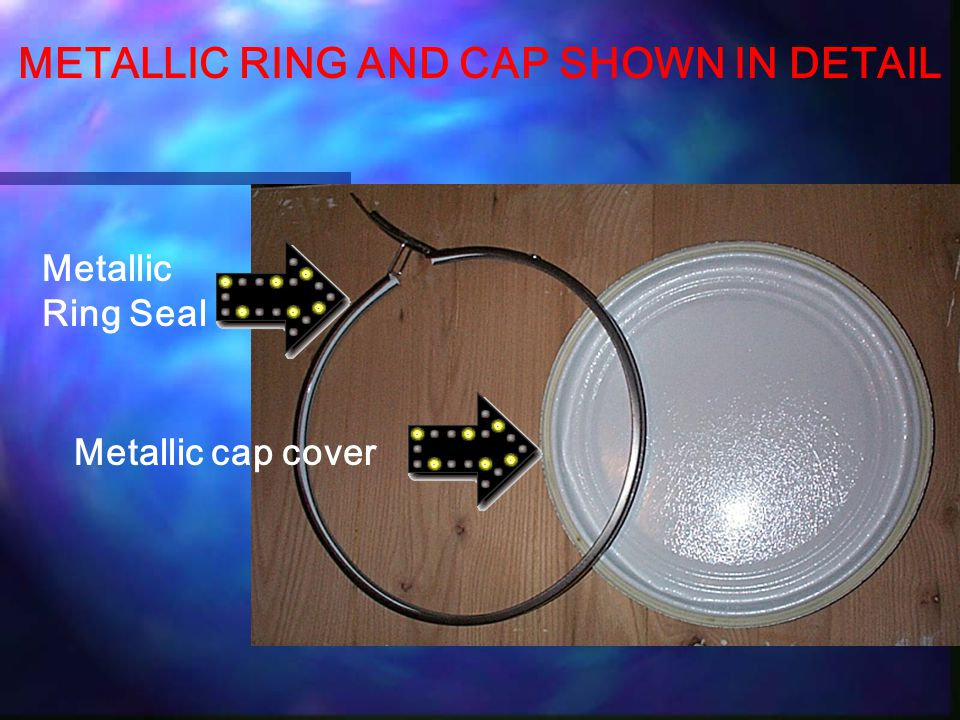 METALLIC RING AND CAP SHOWN IN DETAIL