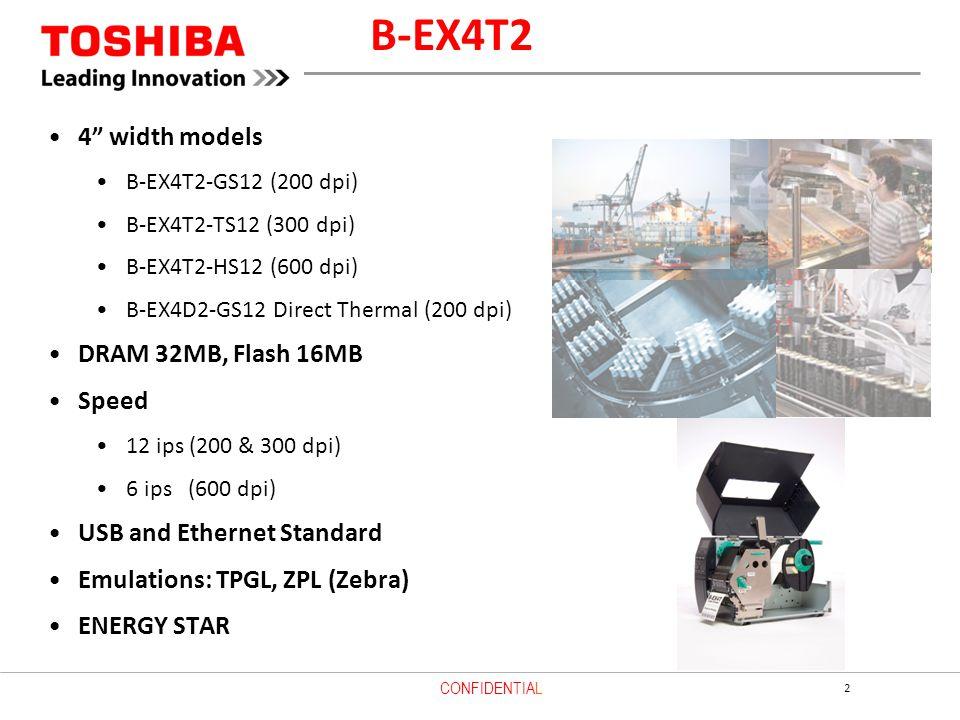 B-EX4T2 4 width models DRAM 32MB, Flash 16MB Speed