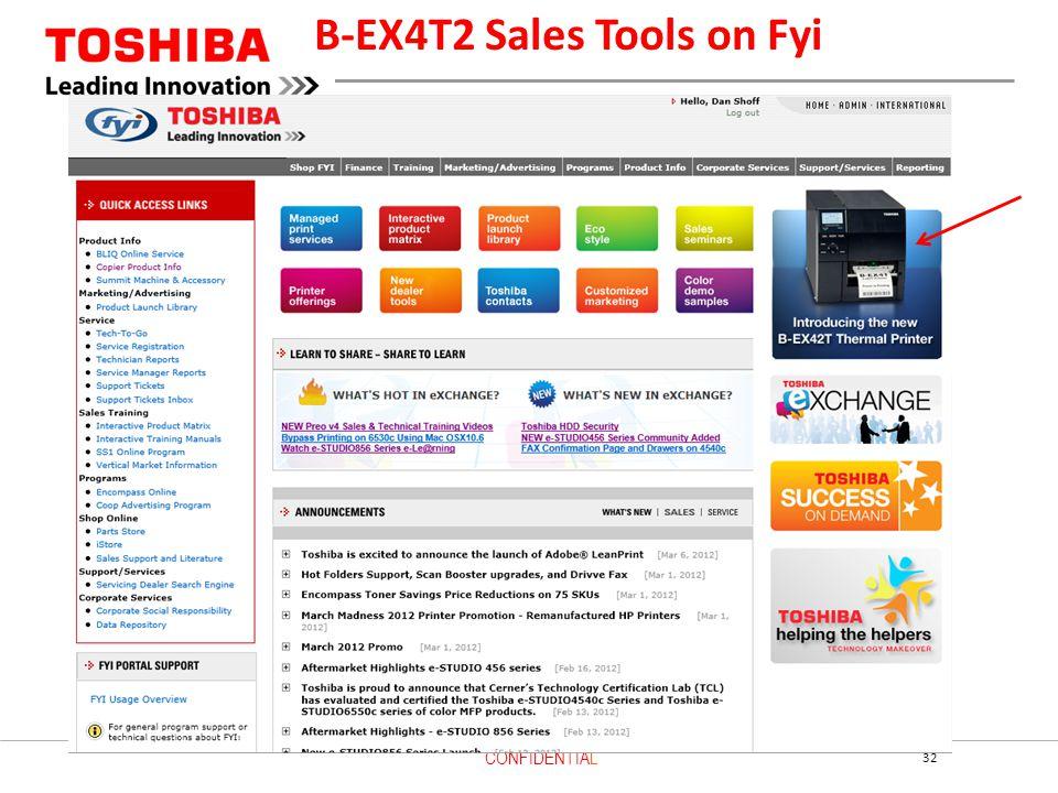 B-EX4T2 Sales Tools on Fyi