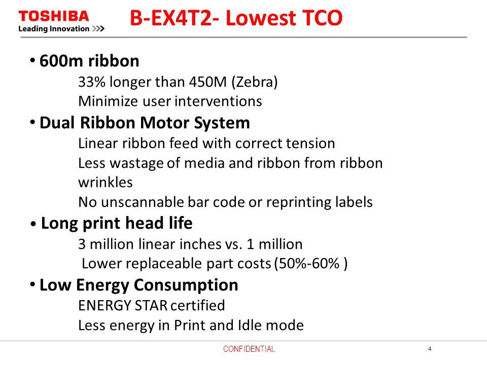 B-EX4T2- Lowest TCO 600m ribbon Dual Ribbon Motor System