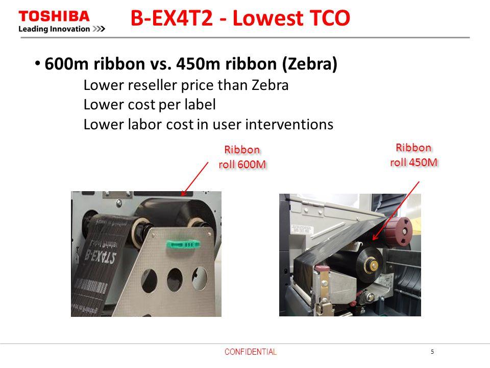 B-EX4T2 - Lowest TCO 600m ribbon vs. 450m ribbon (Zebra)