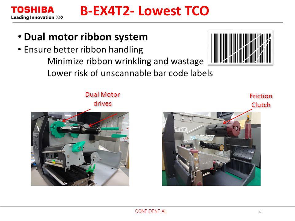 B-EX4T2- Lowest TCO Dual motor ribbon system