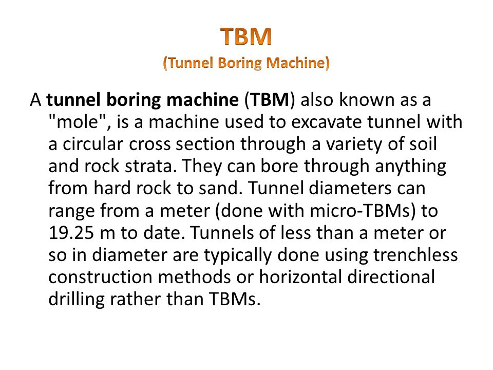 TBM (Tunnel Boring Machine)