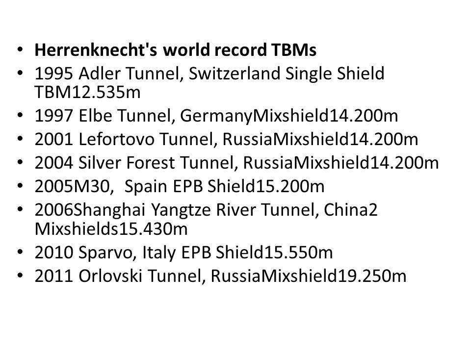 Herrenknecht s world record TBMs