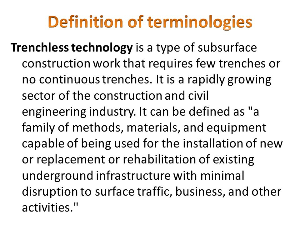 Definition of terminologies