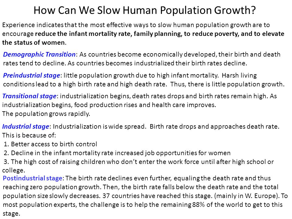 How Can We Slow Human Population Growth