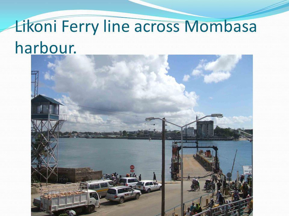 Likoni Ferry line across Mombasa harbour.