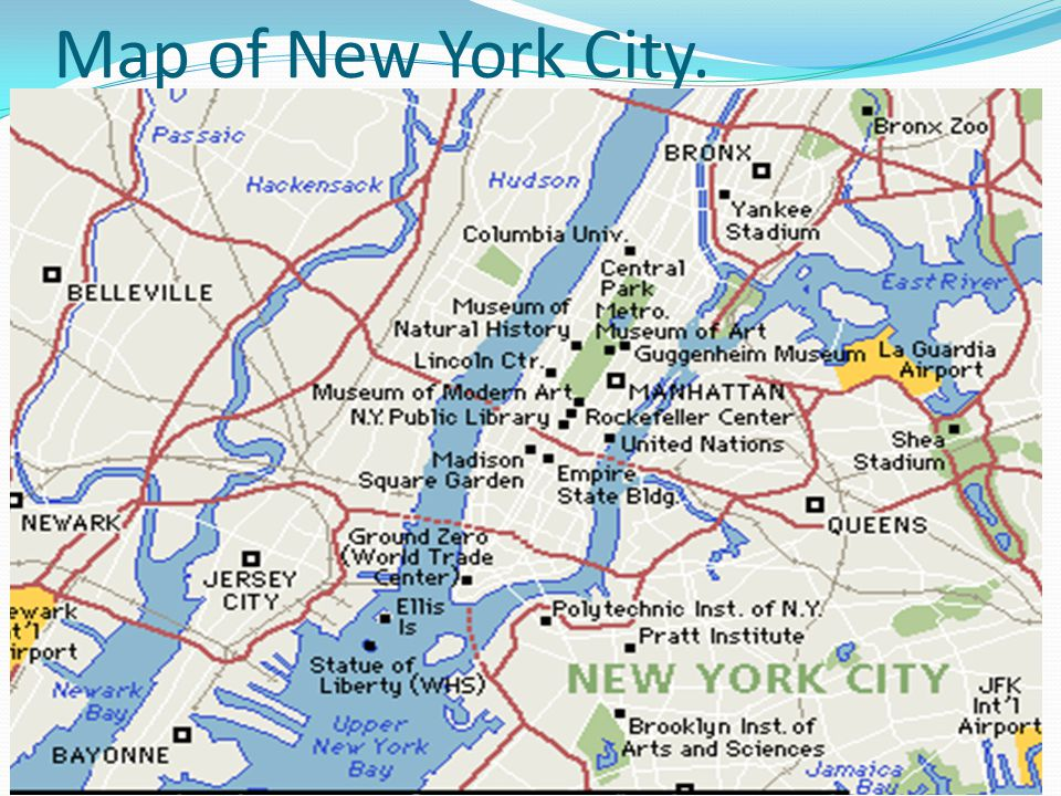 Map of New York City.