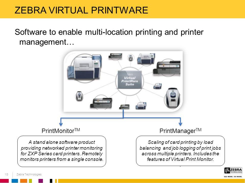 Zebra virtual printware