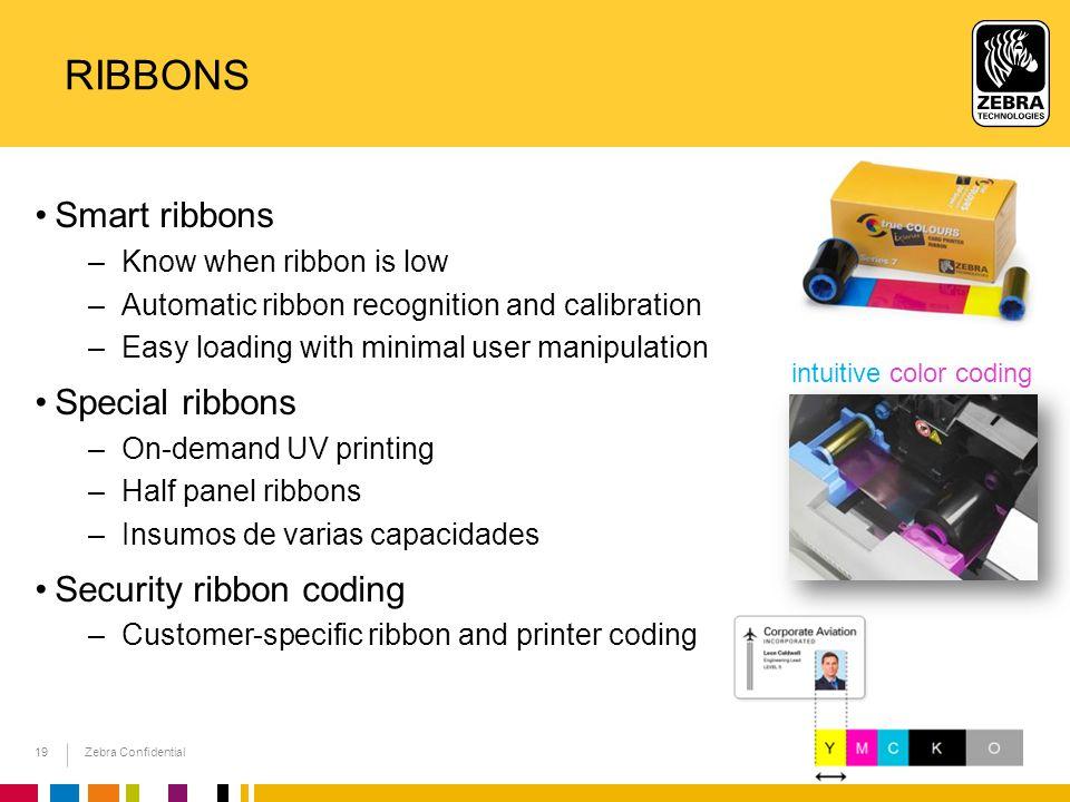 Ribbons Smart ribbons Special ribbons Security ribbon coding