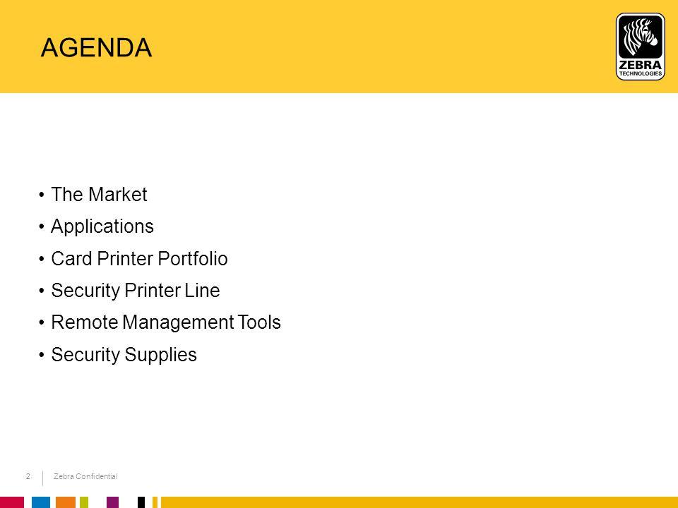 Agenda The Market Applications Card Printer Portfolio