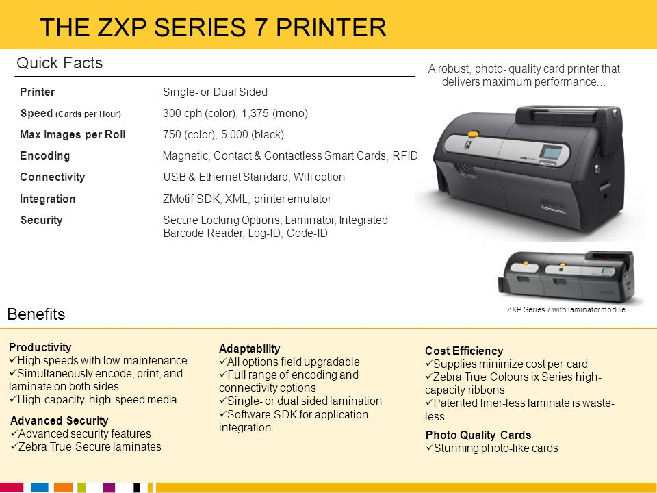 ZXP Series 7 with laminator module