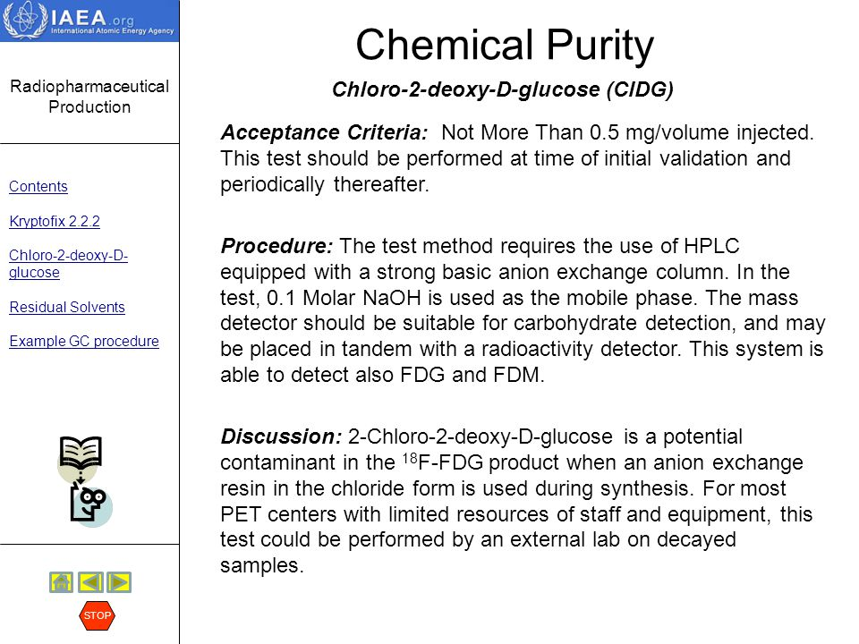 Chemical Purity Chloro-2-deoxy-D-glucose (ClDG)