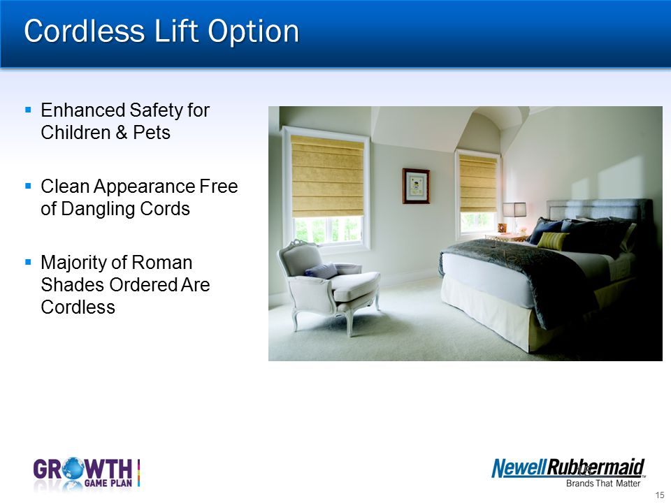 Cordless Lift Option Enhanced Safety for Children & Pets