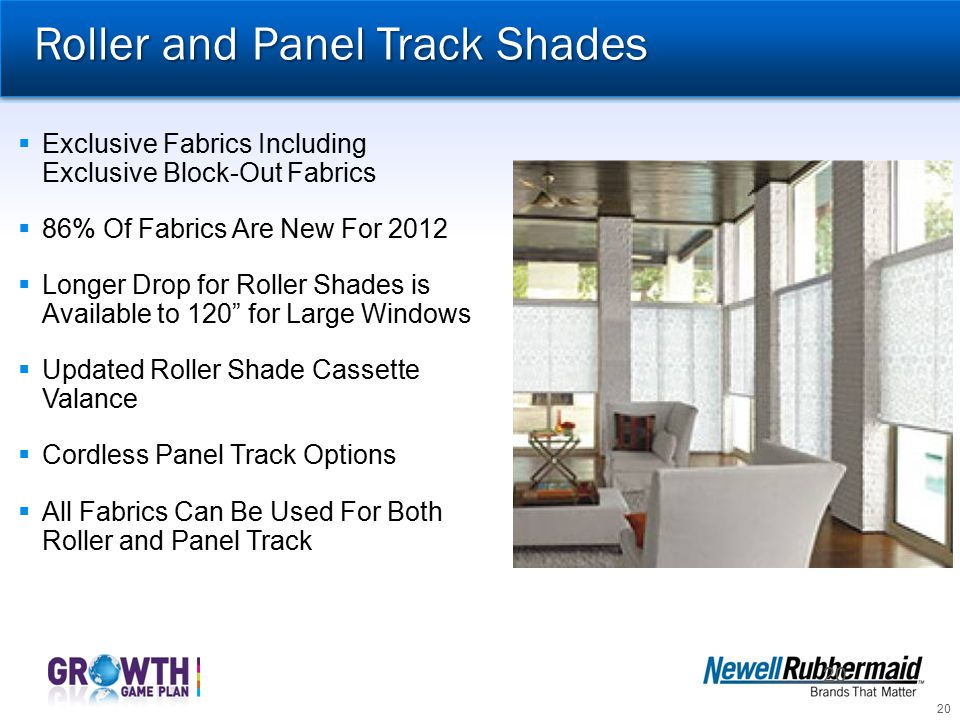 Roller and Panel Track Shades