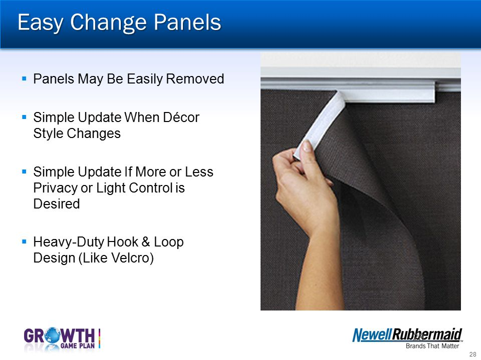 Easy Change Panels Panels May Be Easily Removed