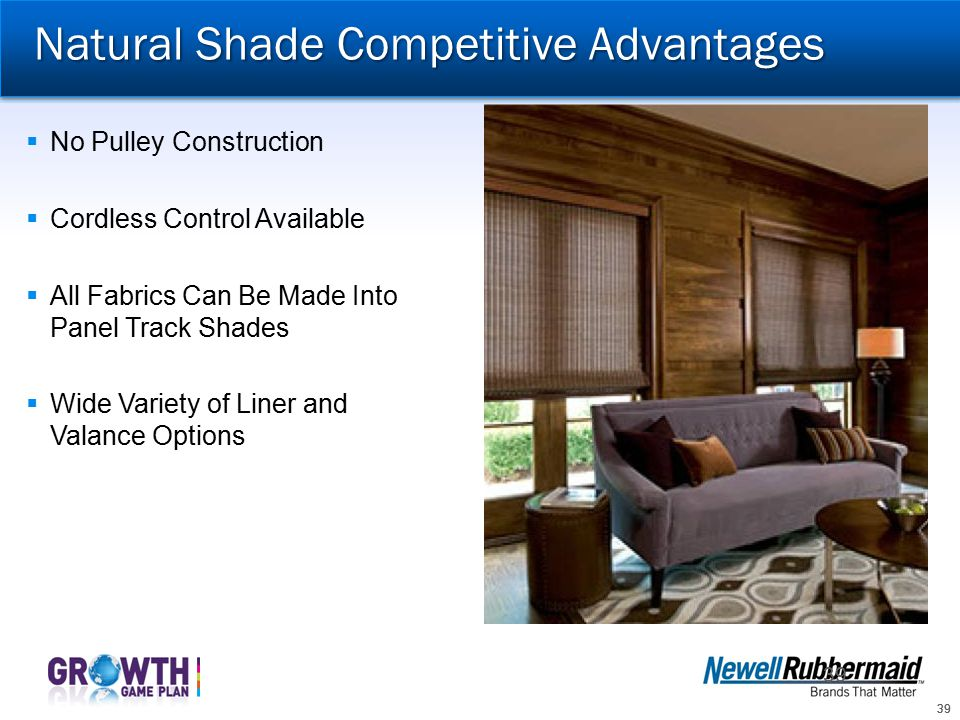 Natural Shade Competitive Advantages