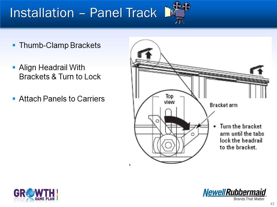 Installation – Panel Track