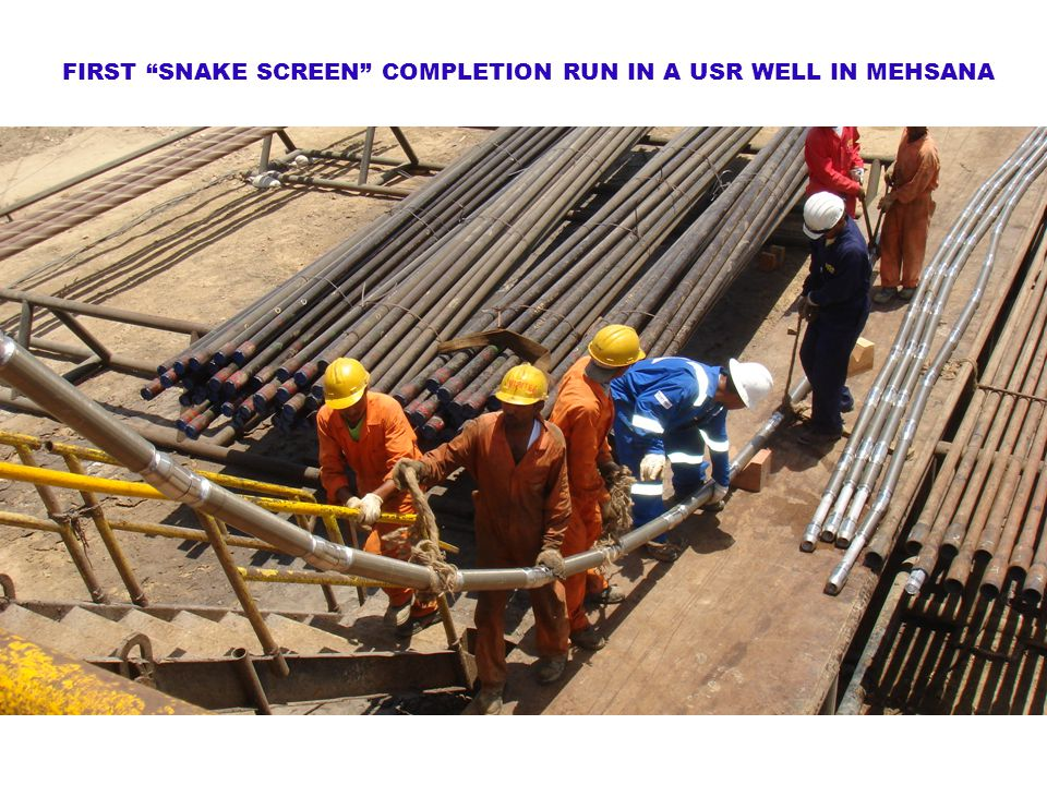 FIRST SNAKE SCREEN COMPLETION RUN IN A USR WELL IN MEHSANA