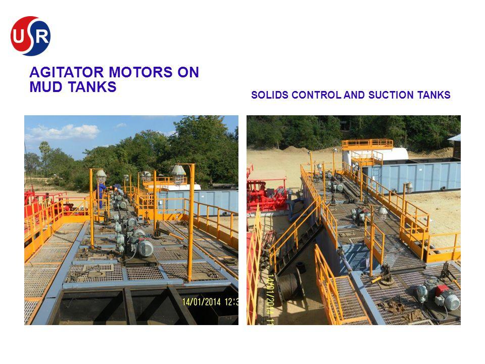 Agitator Motors on Mud Tanks