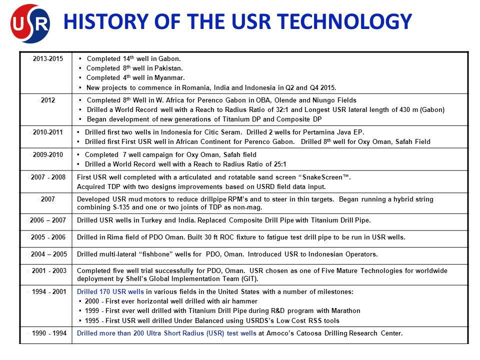 HISTORY OF THE USR TECHNOLOGY
