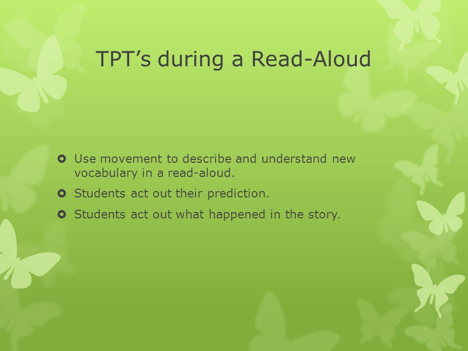 TPT's during a Read-Aloud