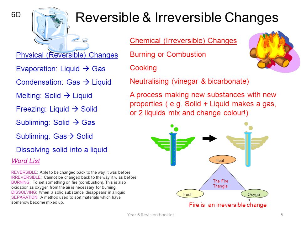 Reversible & Irreversible Changes