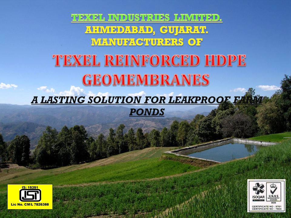 TEXEL REINFORCED HDPE GEOMEMBRANES