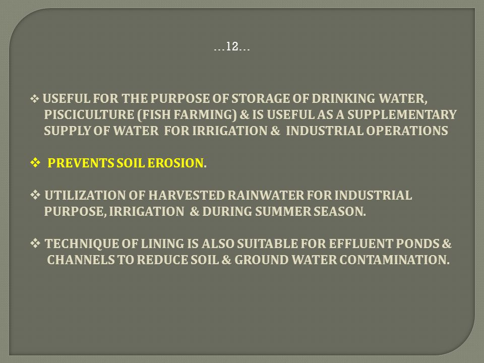 pisciculture (Fish Farming) & is useful as a supplementary