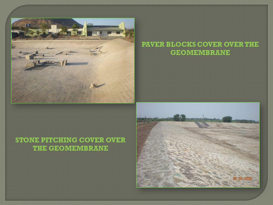 PAVER BLOCKS COVER OVER THE GEOMEMBRANE