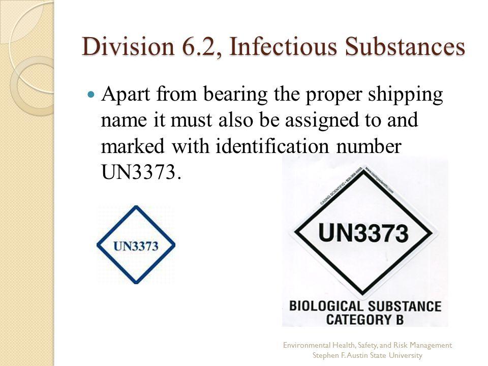 Division 6.2, Infectious Substances
