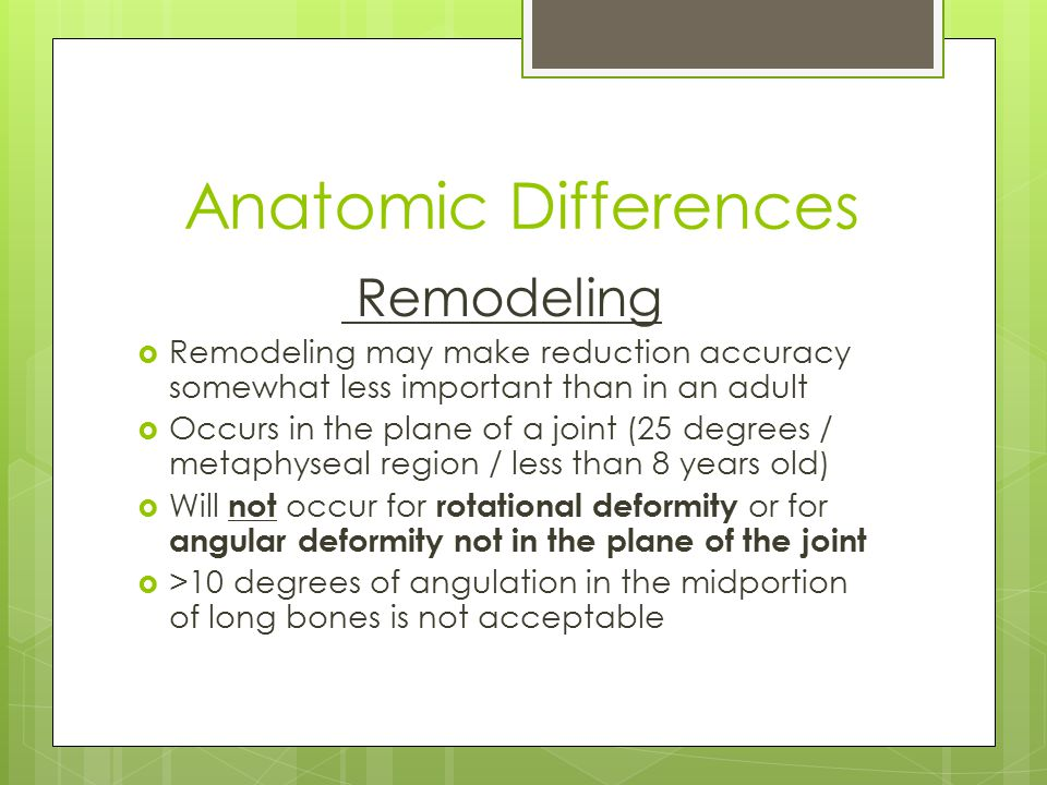 Anatomic Differences Remodeling