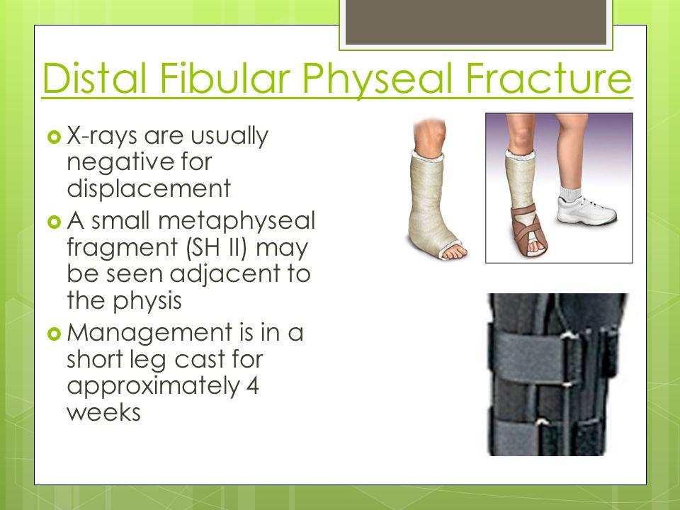 Distal Fibular Physeal Fracture