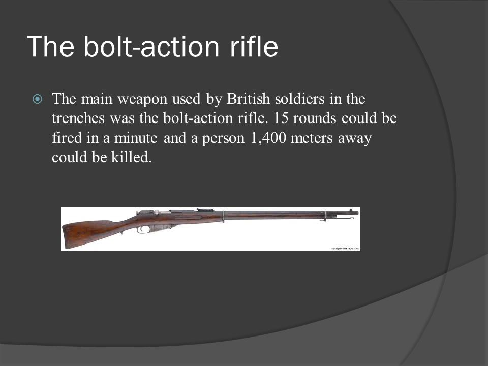 The bolt-action rifle