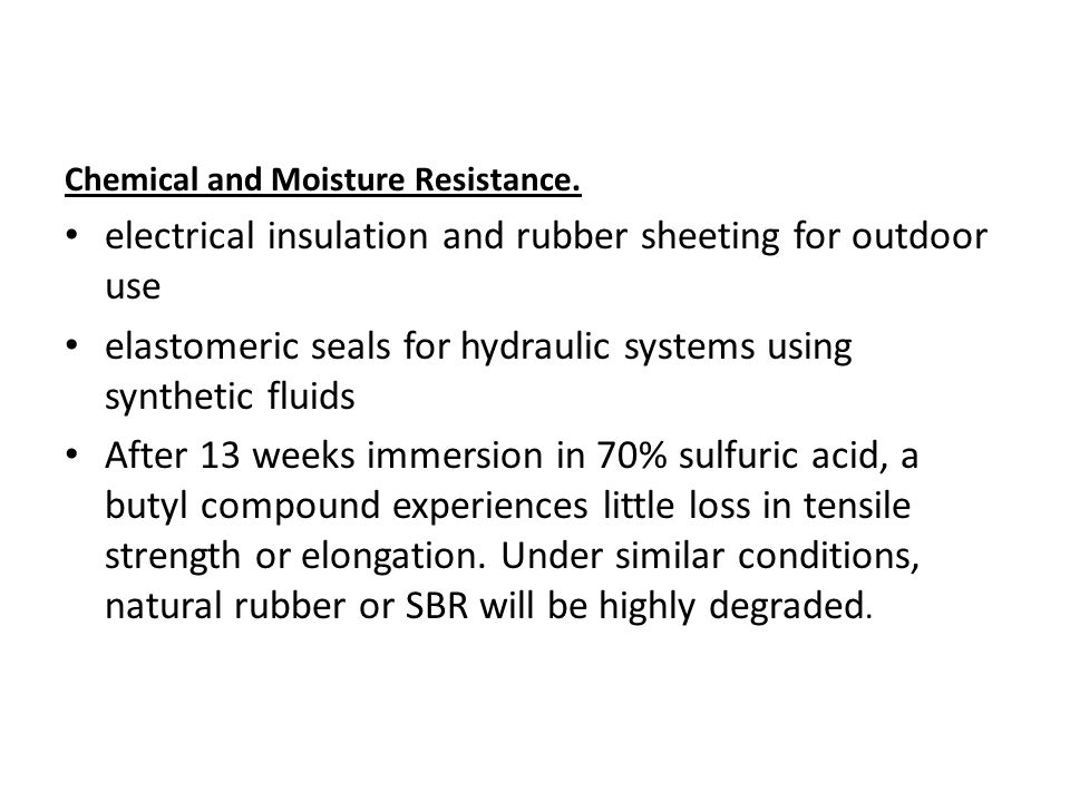 electrical insulation and rubber sheeting for outdoor use