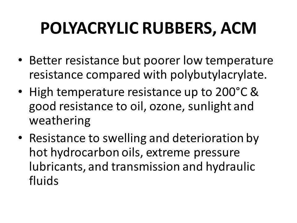 POLYACRYLIC RUBBERS, ACM