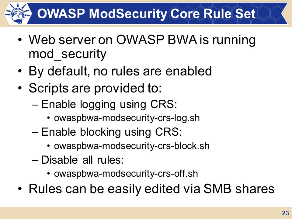 OWASP ModSecurity Core Rule Set
