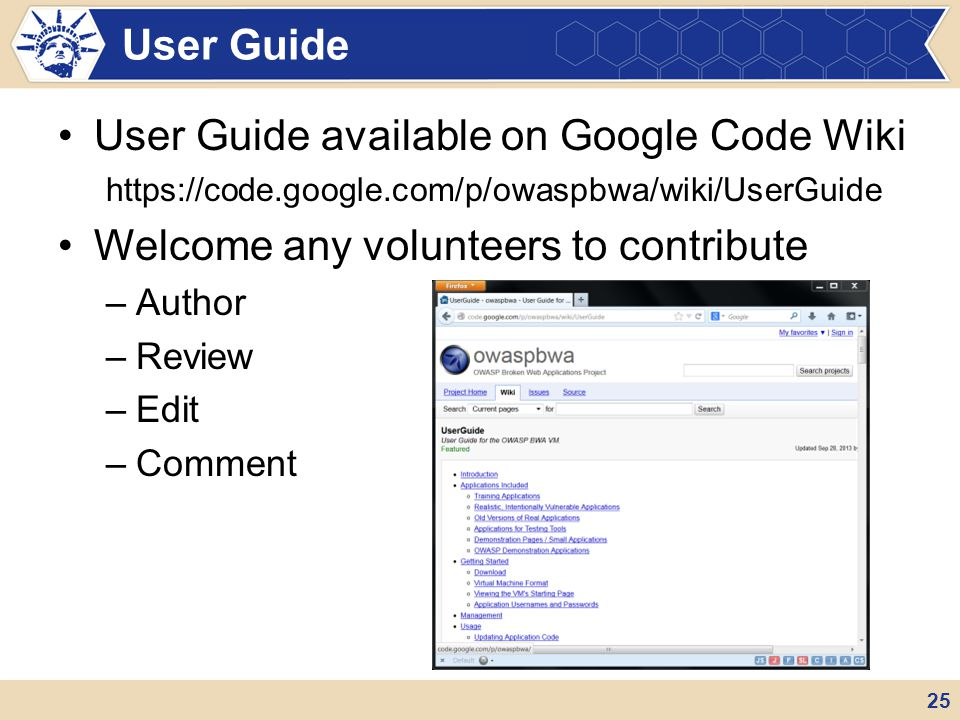 User Guide available on Google Code Wiki