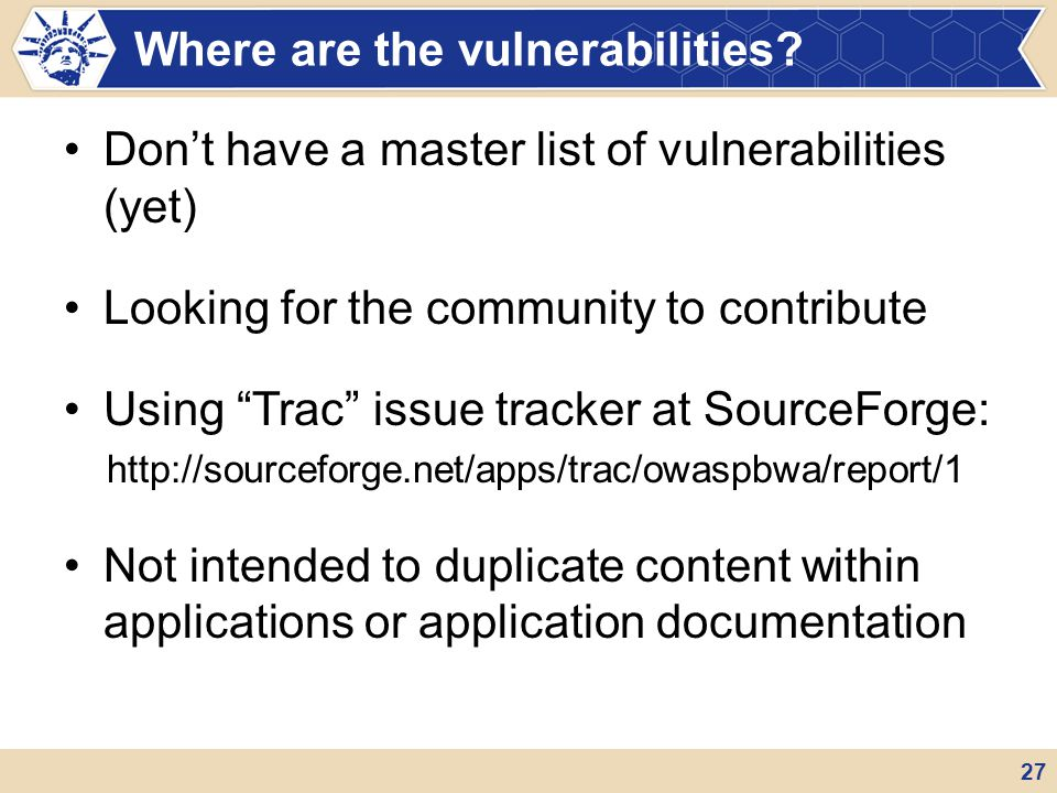 Where are the vulnerabilities