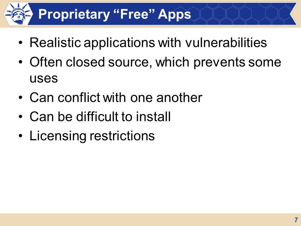 Proprietary Free Apps
